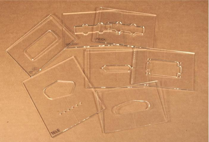 Guitar Parts Center Pickup Cavity Routing Templates